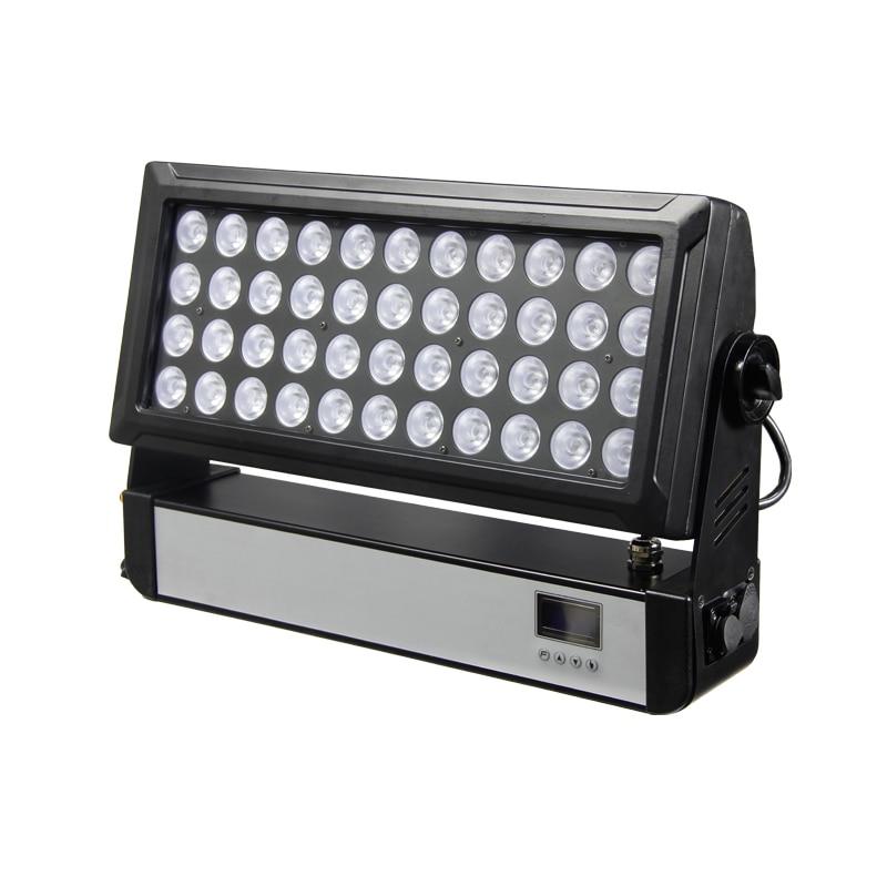 Livraison gratuite 44*10 W LED ACED RGBW 4 en 1 effet de scène de lavage lumière pour DJ disco DMX sans fil suède faisceau éclairage de lavage de mur d'inondation