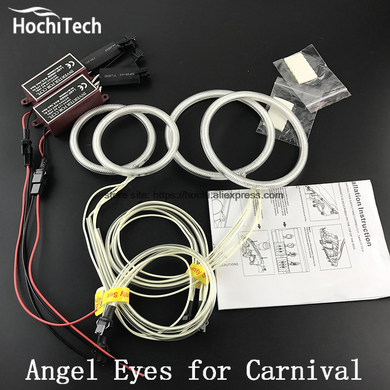 HochiTech WHITE 6000K CCFL Headlight Halo Angel Demon Eyes Kit angel eyes light for Kia Carnival Sedona 2006 2007 2008 2009 2010 hochitech white 6000k ccfl headlight halo angel demon eyes kit angel eyes light for vw volkswagen golf 5 mk5 2003 2009