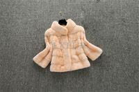 Deluxe Womens Real Mink Coats Elegant Mink Fur Jacket Natural Mink Fur Outwear Fashion Standing Collar