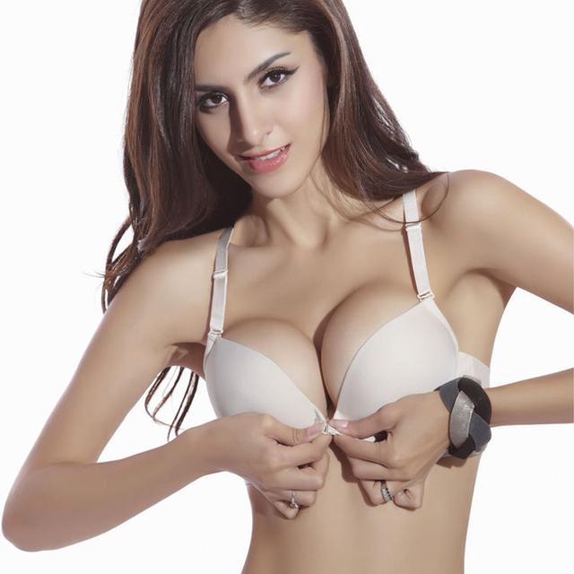 Fashion Bra Spring And Summer Seamless Sexy Front Button Bra Girls's Push Up Underwear Buckle Female Small Chest Bra Underwire