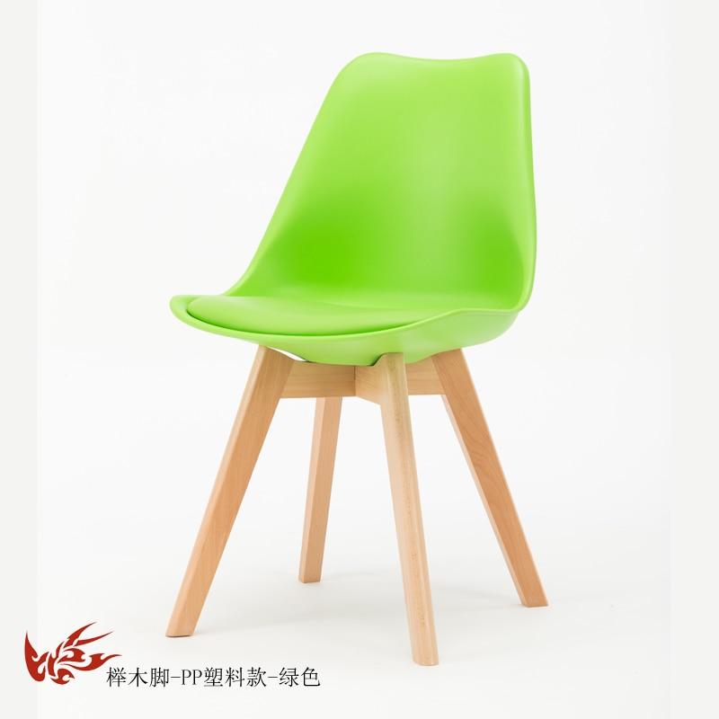 Простой стул Мода нордическая ткань; Массивная древесина обеденный стул кофе отель встречи, чтобы обсудить домашний табурет - Цвет: 5
