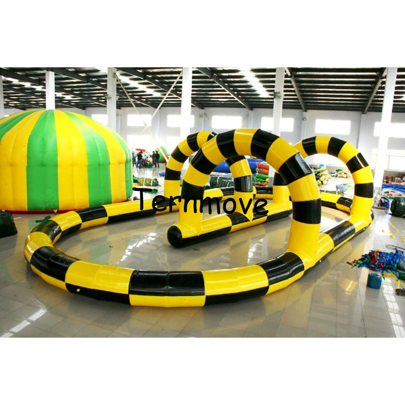 inflatable race track Kids play outdoor sports games go kart race track Sport games inflatable zorb ball track