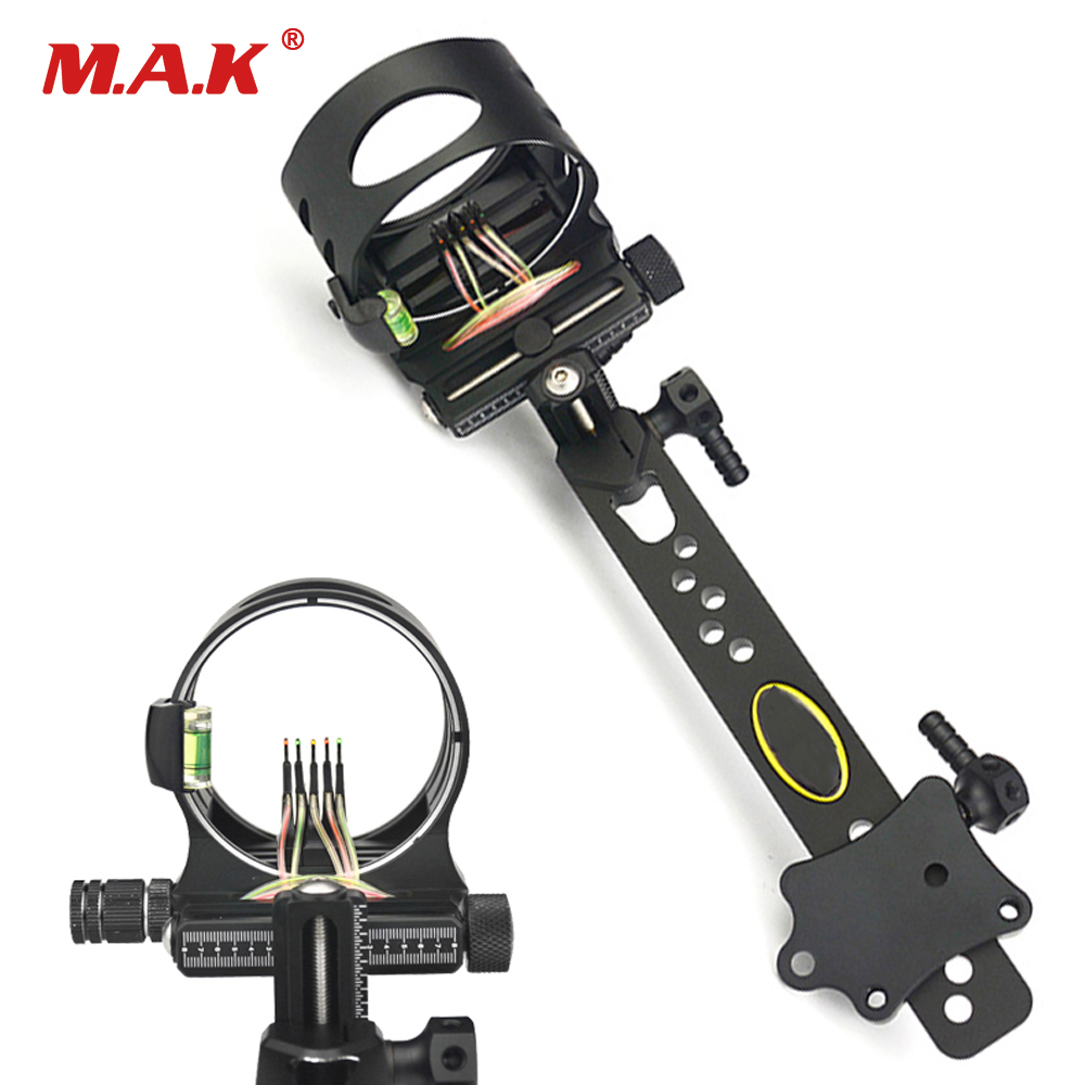 5 Pins Compound Bow Sight 8 Times Lens Adjust Optical Fiber Left Right Hand with Light for Outdoor Hunting Shooting5 Pins Compound Bow Sight 8 Times Lens Adjust Optical Fiber Left Right Hand with Light for Outdoor Hunting Shooting
