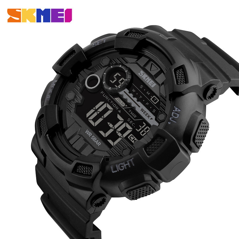 SKMEI Brand Men Sports Watches Army 50M Waterproof LED Digit
