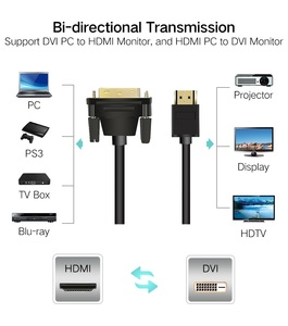 Image 3 - HDMI to DVI Cable 24+1 pin Adapter Male to Male Converter Cable 3D 1080P for LCD DVD HDTV XBOX hdmi 1m 2m 3m 5m DVI TO HDMI