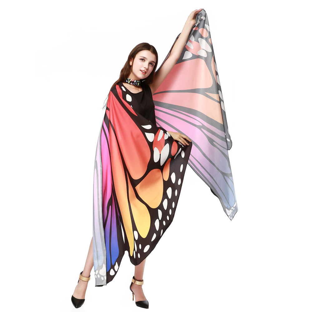 Neu Design Frauen Schmetterling Flügel Pashmina Schal Schal Nymph Pixie Poncho Kostüm Zubehör I28T Freies Verschiffen