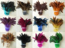 Free Shipping! Hot sale 200pcs/lot 5-6 100% Real Natural Dyed Colour Cock Roster Feather
