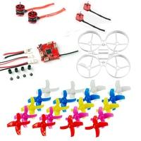 for DIY Drone Mini 75mm Frame Kit Indoor Brushless Whoop Racer Drone Combo Set F3 FC ESC SE0703 Motor 40mm 4 Blades Propeller