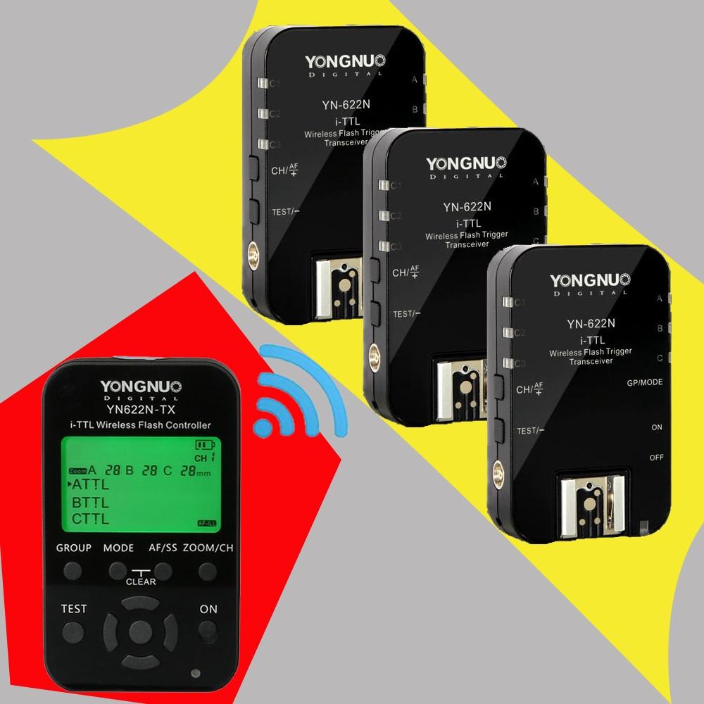 Yongnuo YN622N YN-622N 622N-TX YN622N-KIT I-TTL Wireless HSS Flash Trigger Set Transmitter x1+3x Transceiver Receiver For Nikon 2pcs yongnuo yn622n ii yn622n tx i ttl wireless flash trigger transceiver for nikon camera for yongnuo yn565 yn568 yn685 flash