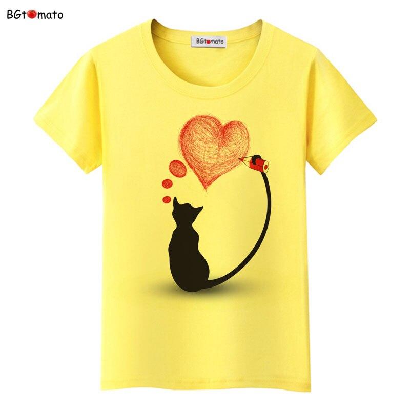 BGtomato super cool elegant cat t shirt women hot sale clothes lovely tshirt fashion top tees t-shirt Brand kawaii shirt 14
