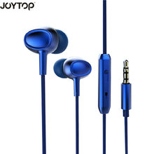 Фотография JOYTOP Phone Earphones Headphones with Wired Volume Control Music Earphone for iPhone Samsung xiaomi huawei PC In-ear Headphone