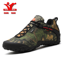 2016 XIANGGUAN man outdoor waterproof canvas hiking shoes low boots Anti skid Wear resistant breathable fish climbing sneakers