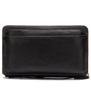 Image 2 - MVA uzun cüzdan erkek hakiki deri erkek el çantası için bozuk para cüzdanı erkek fermuar cüzdan kredi kart tutucu iş para çantaları