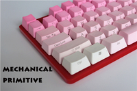 MP 104/87 keys Red Gradient Cherry MX switch PBT Keycaps Radium valture Side printed Keycap for Mechanical Gaming Keyboard