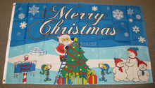 Merry Christmas new Flag 3×5 FT 150X90CM Banner 100D Polyester Custom flag grommets 6038,free shipping