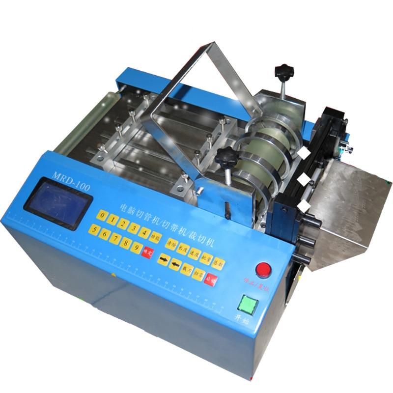 Máquina de corte automática tubo mangueira cabo máquina de corte calor psiquiatra cortador de tubulação sílica gel cortador de tubo 110 v/220 v MRD 100