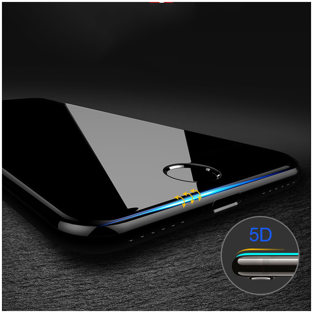 9D Hardness Curved Edge Full Cover Tempered Glass for iPhone 7 Glass iPhone 6 Glass 6S X 8 Plus Screen Protector Film 3D 4D 2