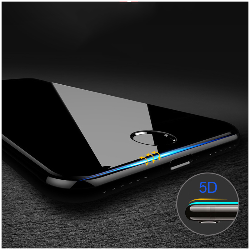 Твердость 5D изогнутый край Полное покрытие закаленное Стекло для iPhone 7 Стекло iPhone 6 Стекло 6 s X 8 плюс экран протектор фильм