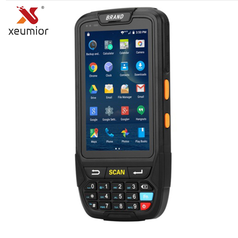 Xeumior PDA Android Handheld Pos Terminal NFC Barcode Scanner Industrial Rugged Handheld Terminal 2D Laser Barcode Reader china industrial rugged tablet pc fingerprint reader uhf rfid 2d laser barcode scanner android 6 0 7 pda handheld terminal 4g