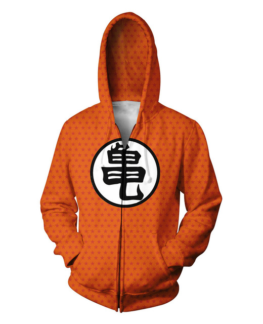 New Arrival 3D Print Dragon Ball Z Turtle Pattern Design Hoodies Zipper With Hat Sweatshirts Long Sleeve Hip Hop Streewear Homme
