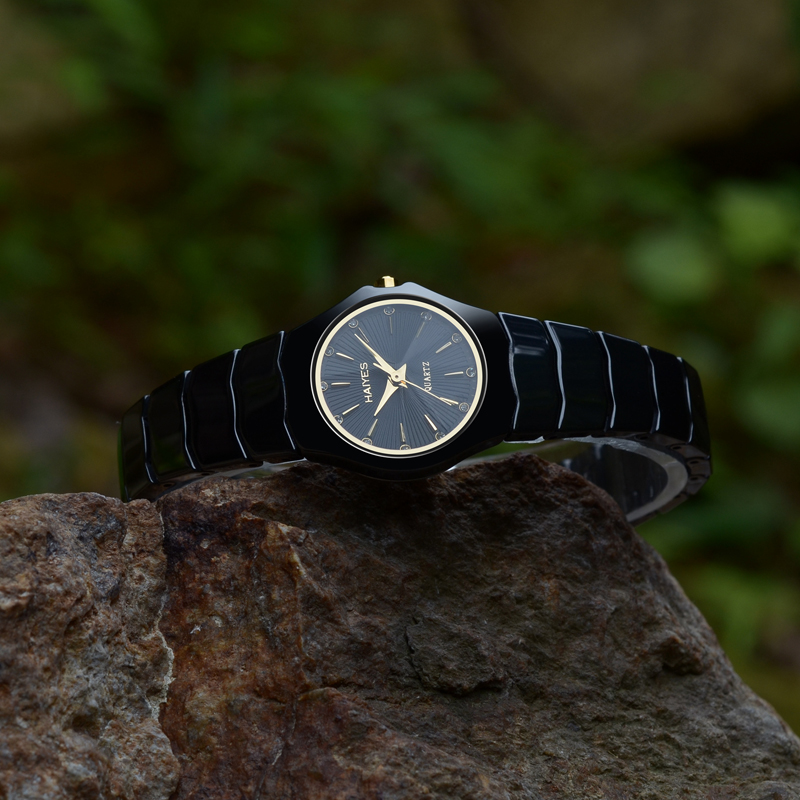 2018 Best Selling Watch Fashion Women Watches Luxury Crystal Rhinestone Ceramic HAIYES Quartz WristWatches Dropshipping relogio