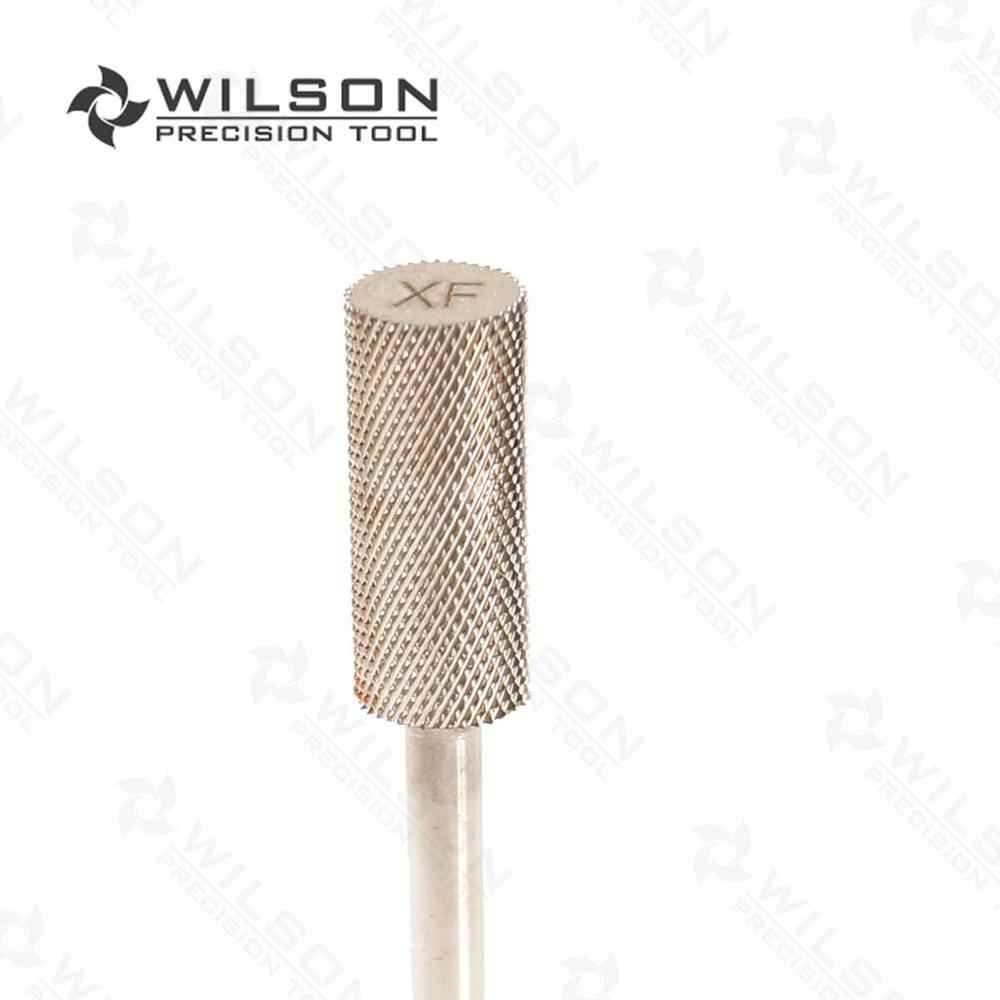2pcs - Small Barrel Bit - Extra Fine (XF-1110027) - Sliver - WILSON Carbide Nail Drill Bit Electric Manicure Drill & Accessory