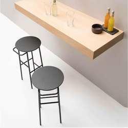 Скандинавское барное кресло железное искусство из твердой древесины Европейское барное кресло барный стул современный простой стул