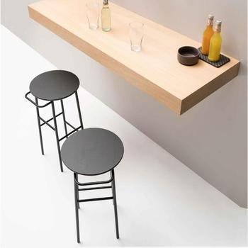 bar novi Nordic bar chair iron art solid wood European bar chair bar stool modern simple chair bar chair high stool
