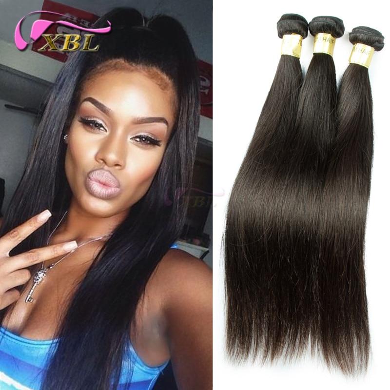 XBL 3pcs lot Brazilian Virgin Hair Straight tissage
