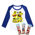 star wars / cars 2 girls & boys clothing minions boys & girls clothes movie TV Despicable Me long sleeves children kids clothes