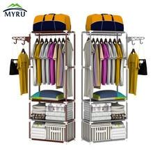 Пол вешалка стеллаж для хранения Мода простая одежда вешалка для спальни Бесплатная доставка