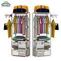 Perchero piso moda rack de almacenamiento sencilla suspensión de ropa para el envío libre dormitorio