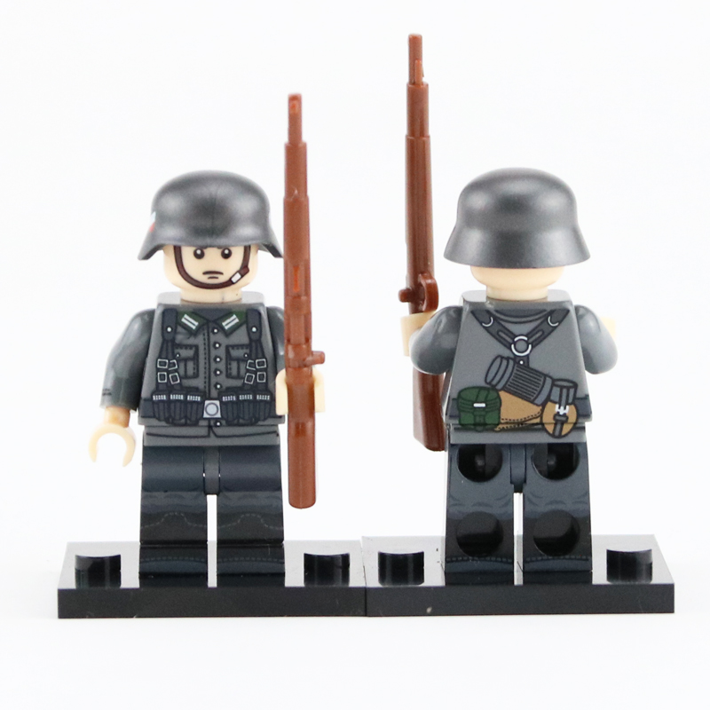 WW2 Military German Autumn Army Soldier Figures Blocks Toys German Medic Parts Stretcher Weapon Helmet Accessories Bricks Toys
