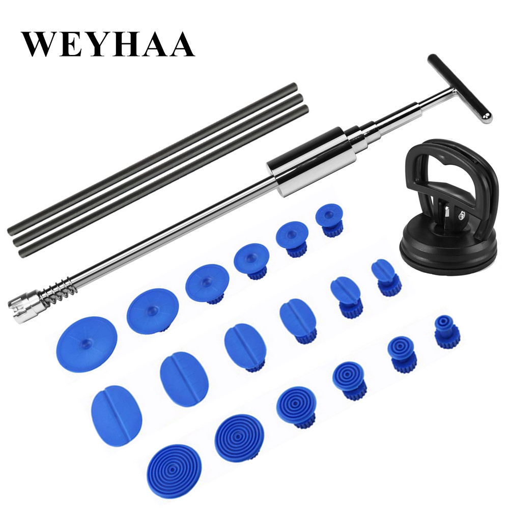 PDR Tools Dent Removal Suction Cup Paintless dent repair Tool Kit Car Body Dent Hand tools Set Slide Hammer Tabs Fix Tools in Sheet Metal Tools Set from Automobiles Motorcycles
