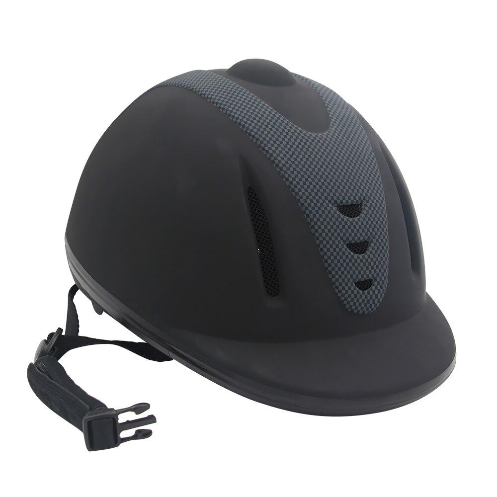 Casque d'équitation professionnel réglable demi-visage couvre-chef de protection équipement sécurisé pour les cavaliers de questrie