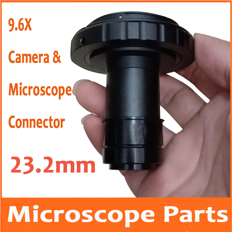 9.6 Times Nikon Canon Camera Connector Digital SLR Camera interface T2 Adapter Stereo Biological Microscope Eyepiece Lens 23.2mm9.6 Times Nikon Canon Camera Connector Digital SLR Camera interface T2 Adapter Stereo Biological Microscope Eyepiece Lens 23.2mm