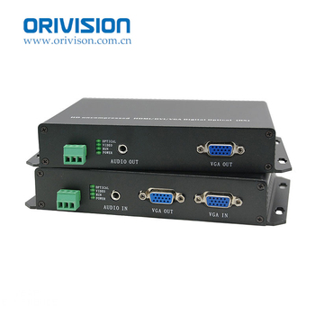 Full HD VGA Extender 10KM over Fiber Optic uncompressed with loop out transmit VGA/Audio/RS232