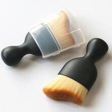 3D кисти для макияжа 1 шт. contour Pro Кабуки контурная кисть для растушевки пудры тональный крем, макияж для лица, бронзер, набор кистей для макияжа с крышкой