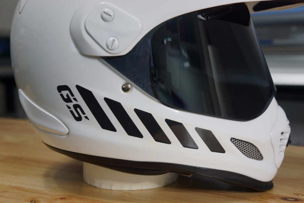 GS Reflective Safety Decal Kit GS  for Arai XD4 Motorcycle Helmet