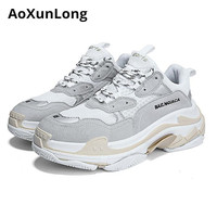 AoXunLong New Sneakers Men Similar balencia Shoes Men Cowhide Non slip Casual Shoes Unisex EU 35 44 Men Shoes zapatos de hombre