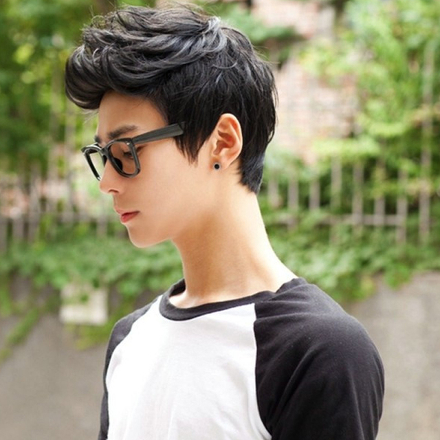 3 Colors Airplane Handsome Student Short Fake Hair Boys Wigs Short ...