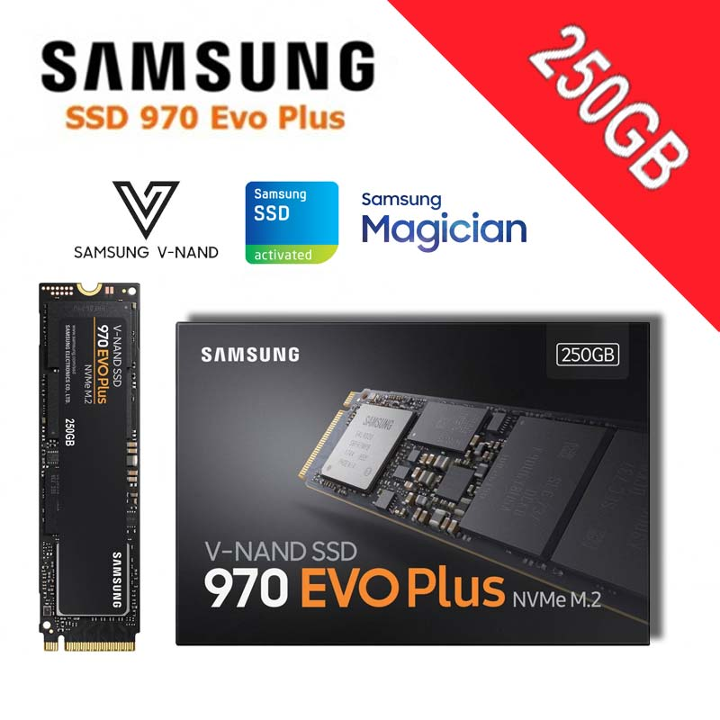 Samsung SSD m2 1 to NVMe M.2 2280 pci-express 3.0x4 disque solide 250GB 500GB 2 to 970 EVO Plus disque de V-NAND haute Performance