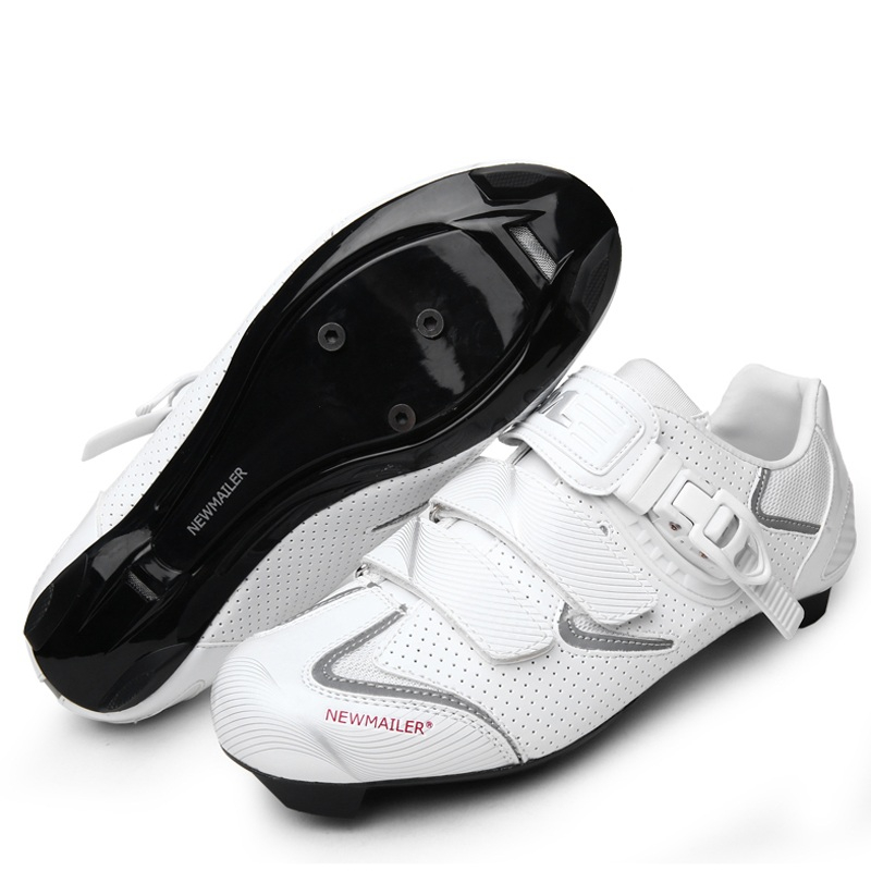 Men Breathable Self Locking Cycling Shoes Non Slip Road Bike Bicycle Shoes Ultralight Athletic Racing Riding Sneakers D0527