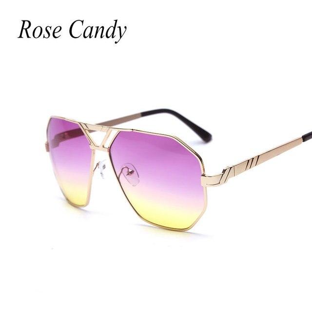 f142cffedeaf66 Rose Bonbon 2017 Super Star Marque Designer De Luxe Dames Miroir lunettes  de Soleil Hommes Femmes