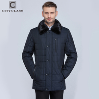 CITY CLASS New Men Business Coats Winter Warm Jackets X long Thinsulate Classic Removable Lining Mink Collar Long Parkas CC15335