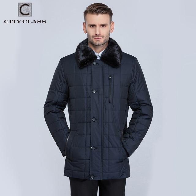 Flash Sale CITY CLASS New Men Business Coats Winter Warm Jackets X-long Thinsulate Classic Removable Lining Mink Collar Long Parkas CC15335