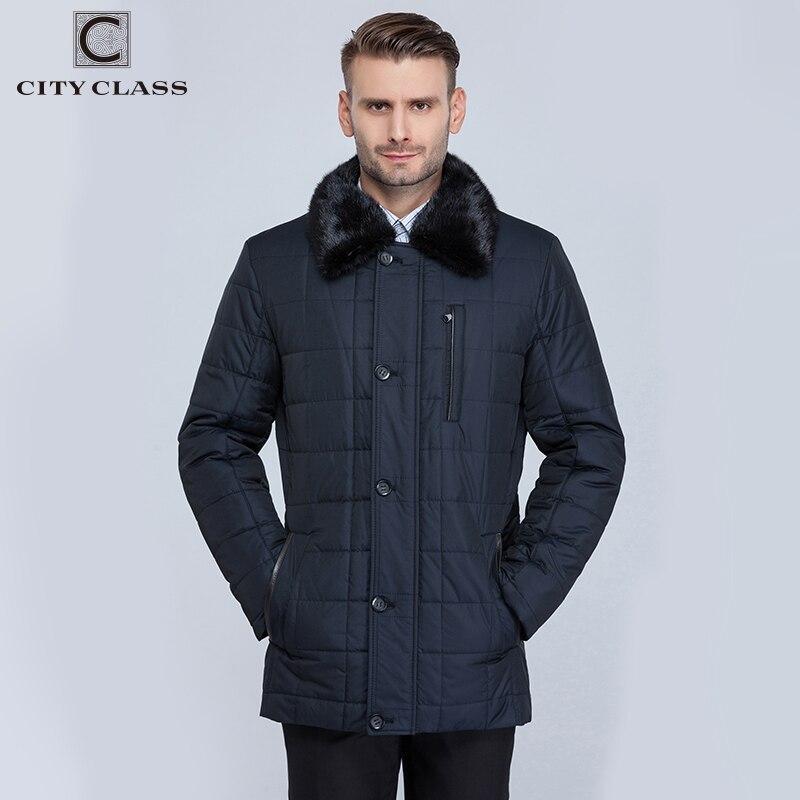 Ville classe affaires hommes manteaux pour hommes hiver nouveau mode vestes Thinsulate amovible doublure vison col Long Parkas CC15335