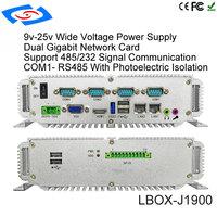 pc עם Intel Celeron J1900 Quad Core CPU Onboard 4G Fanless מחשב Box מיני PC עם VGA HDM RJ45 LAN USB GPIO תמיכה 3G / 4G / LTE / WiFi (2)