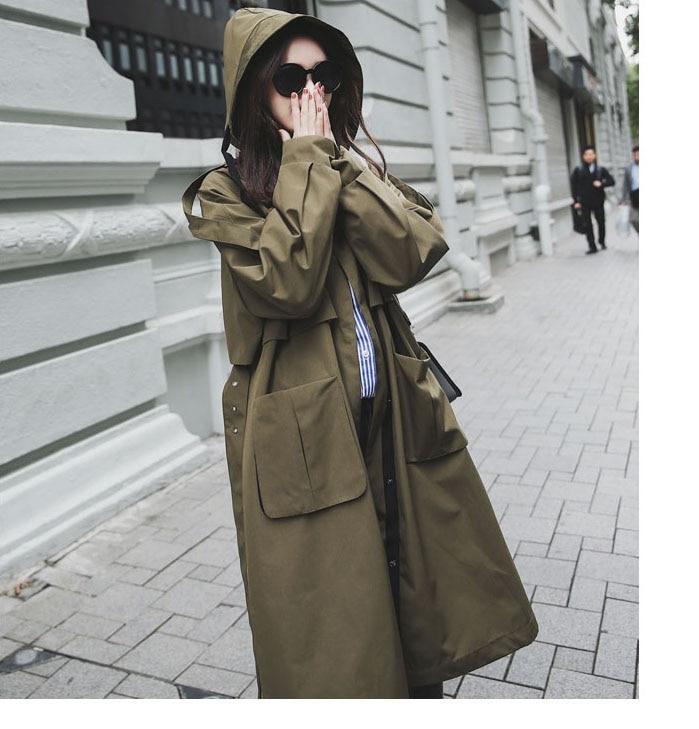 Poches Marque Lâche Femmes Grand Automne vent coat Trench Surdimensionné Royaume Nouvelle Femme automne Mode Chic Coupe uni 2019 Décontracté P7q4f