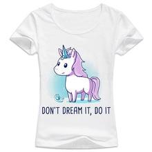 Women's Funny Unicorn O-Neck T-Shirt